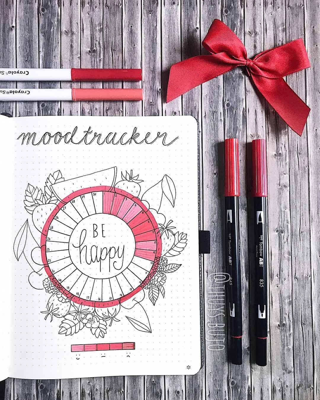 Red mood tracker circle