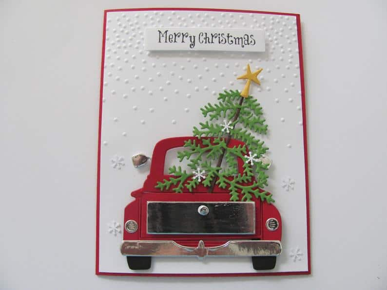 Red Truck Christmas Card