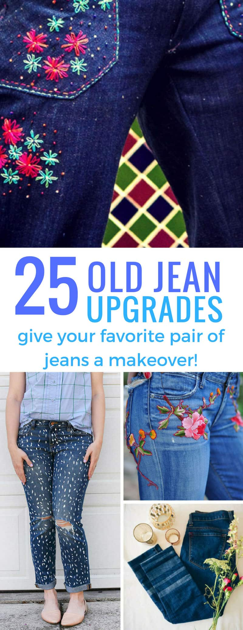 These jean refashion ideas are brilliant if you can't afford a designer pair - just make your own at home!