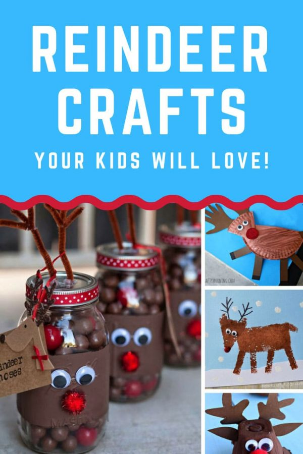 How CUTE are these reindeer crafts for kids! Your children will have a blast making these before Christmas!