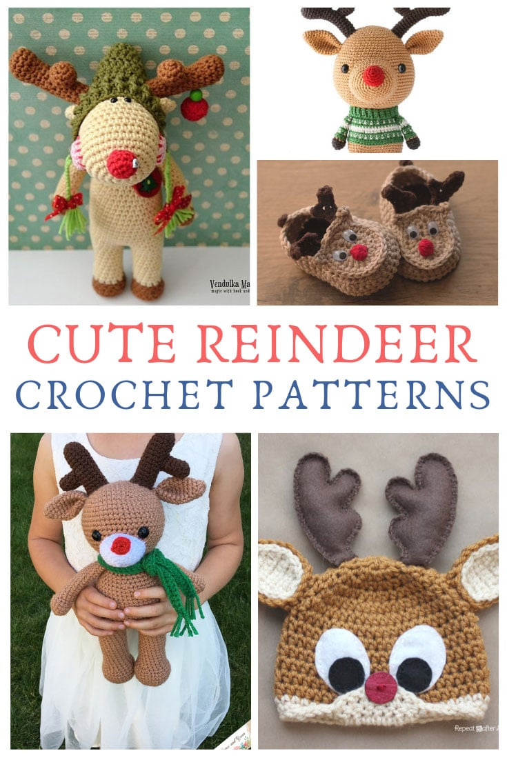 You can't have Christmas without Rudolph right? So we have picked out the best reindeer crochet patterns we could find for you to hook this weekend!
