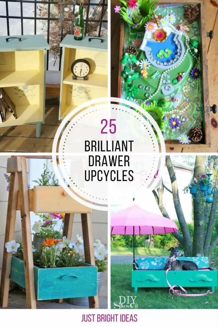 So many creative ways to repurpose dresser drawers! Thanks for sharing!