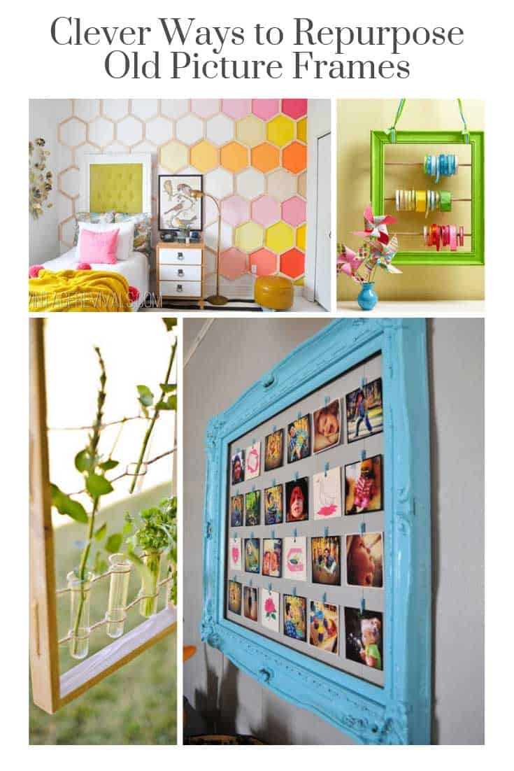 Who knew there were so many ways to repurpose old picture frames! These DIY ideas are GENIUS!