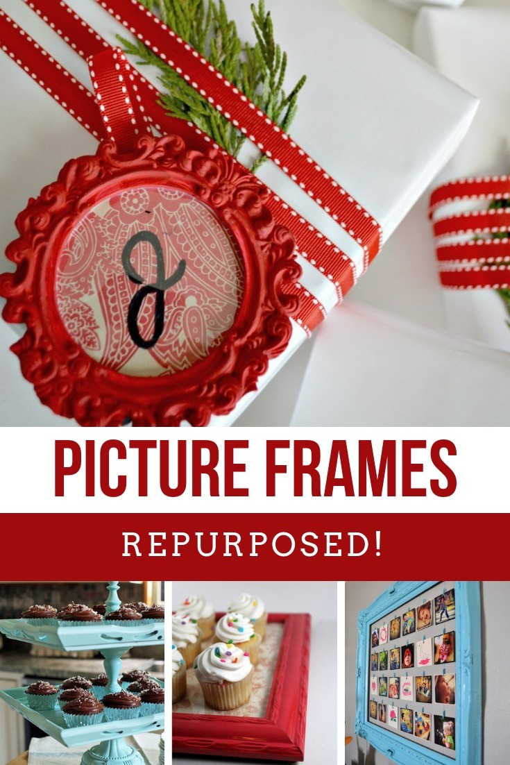 You are going to be amazed at the number of ways to repurpose picture frames into something wonderful - so many handmade gift ideas in this list!