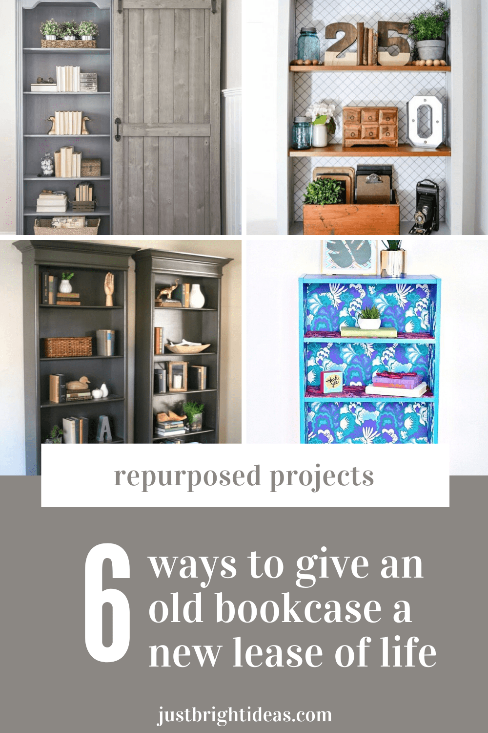 Check out these clever ways to transform an old bookcase into something stylish