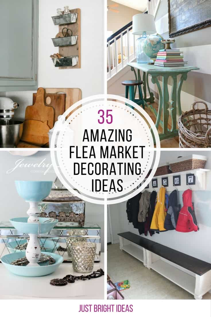 35 amazing repurposed flea market finds that will make for Repurposed home decorating ideas