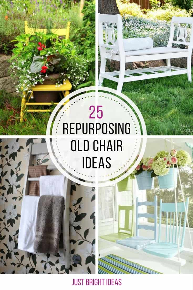 Loving these ideas for repurposing old chairs! Thanks for sharing!