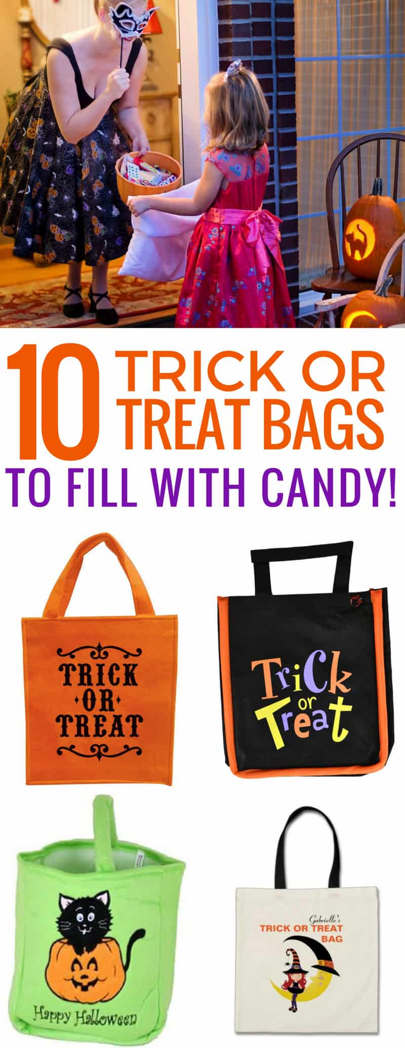 Loving these reusable trick or treat bags - they scream Halloween and are easier to carry than an old pillowcase!