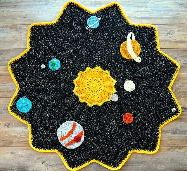 Ripple Blanket with Applique Stars