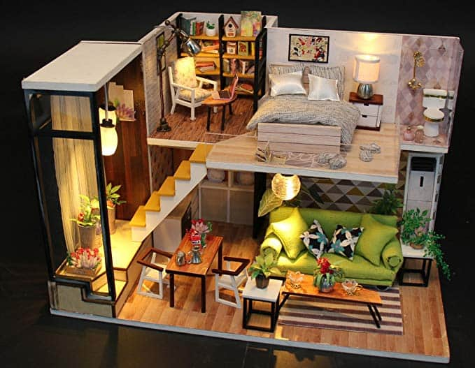 Romantic Miniature Dollhouse Kit