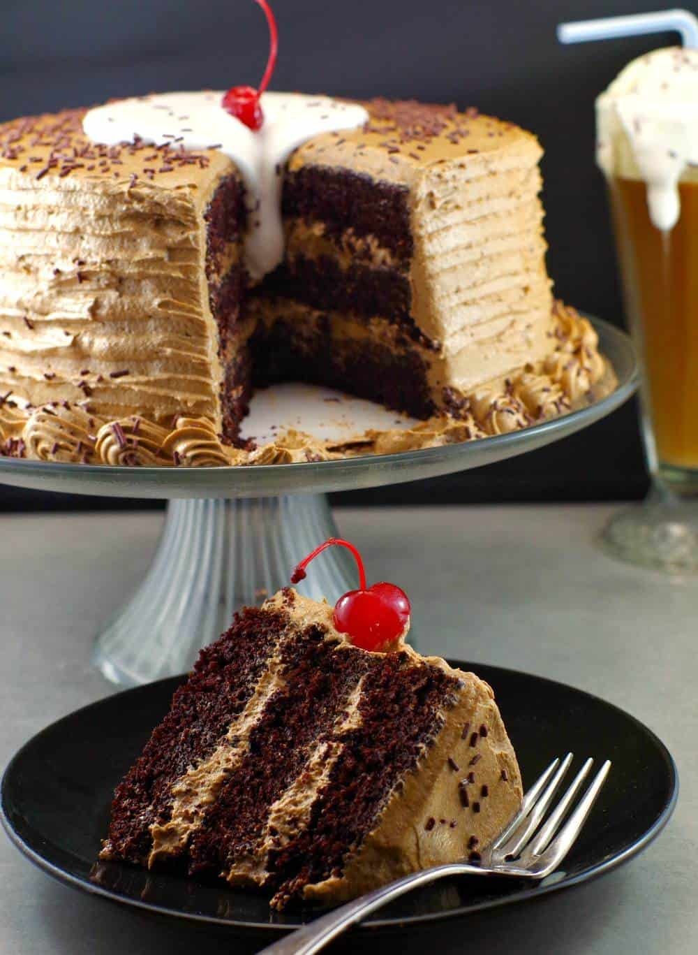 Root Beer Float Cake - The ultimate Happy Birthday Cake Recipe