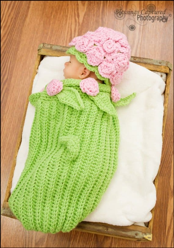Rose Baby Cocoon Crochet Pattern