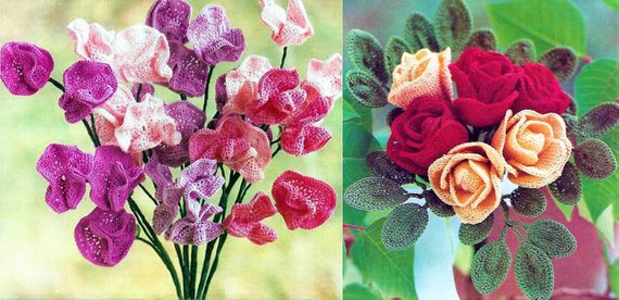Vintage Sweet Peas and Roses Crochet Patterns