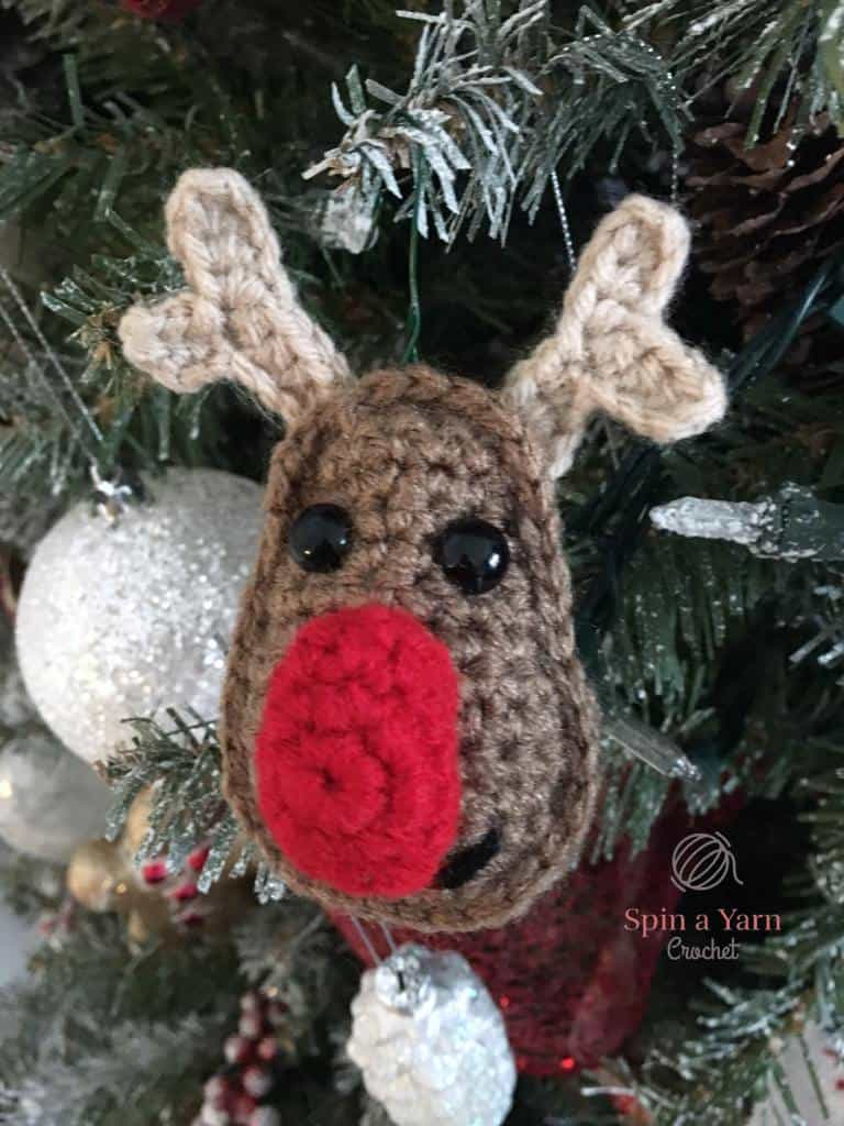 Rudolph Reindeer Crochet Pattern Christmas Ornament