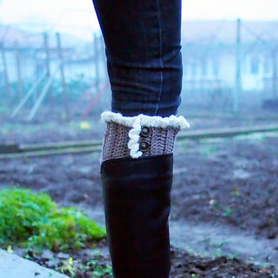 Ruffle Boot Cuff Crochet Pattern