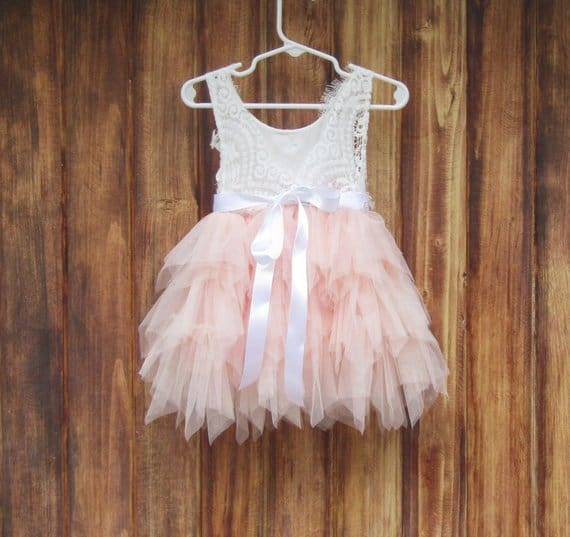 Blush Pink Tulle Tutu Dress