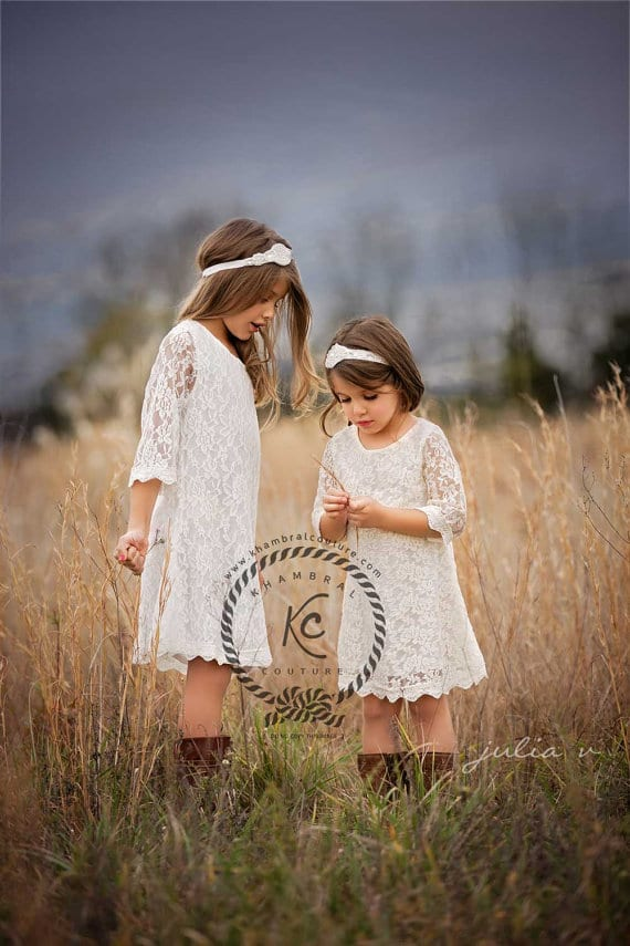 Flower Girl Boho Lace Dress