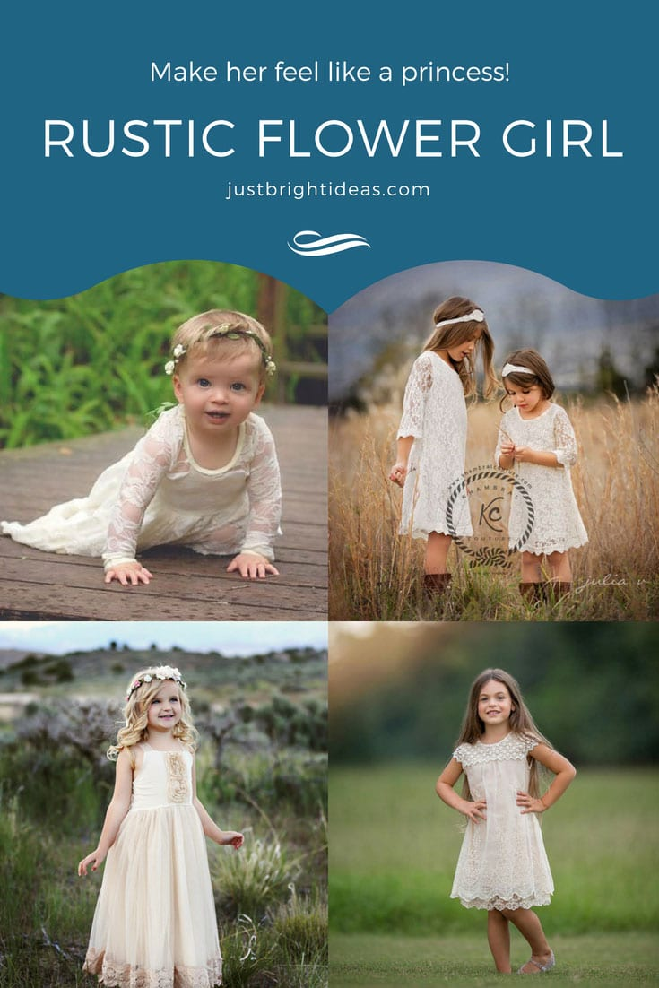 Rustic Flower Girl Dresses Baby Toddler Junior