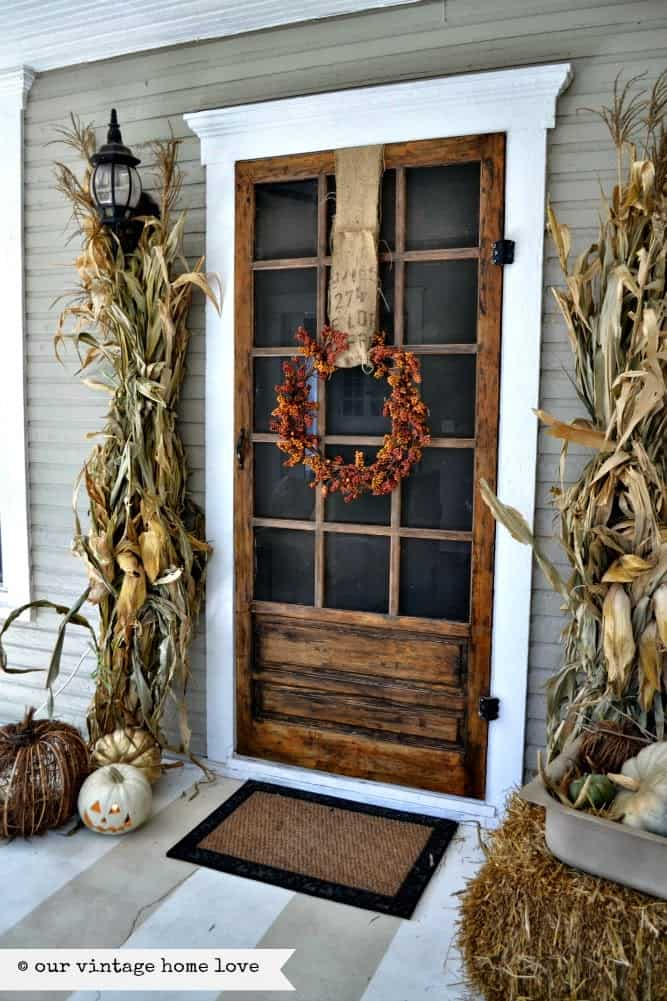 If spooky isn't your thing go for a rustic Halloween decor theme instead like this one