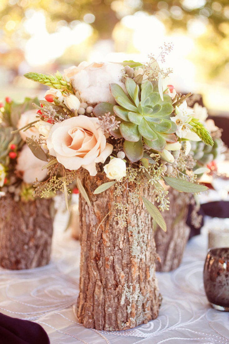 Rustic Wedding Centerpiece Branch