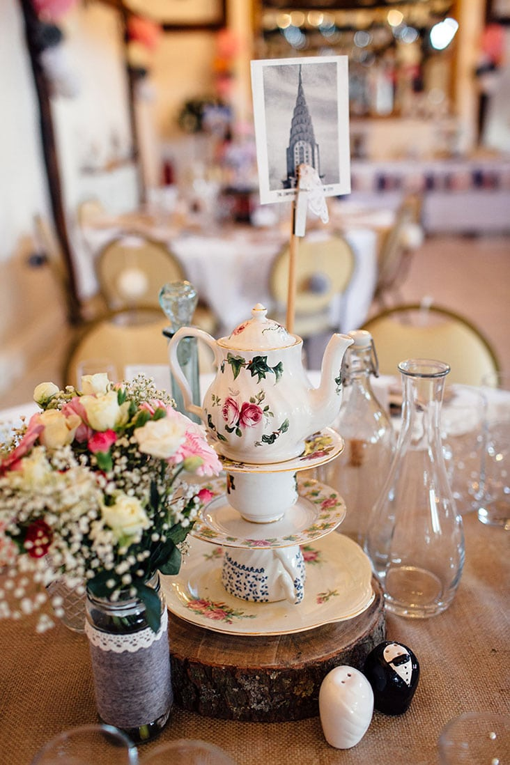 Rustic Wedding Centerpiece Teapot