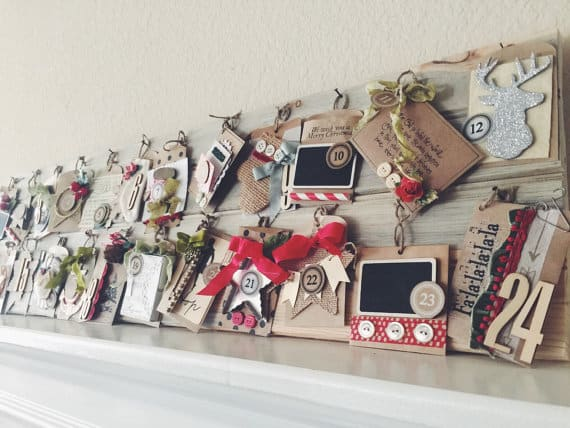 Rustic Wood Advent Calendar