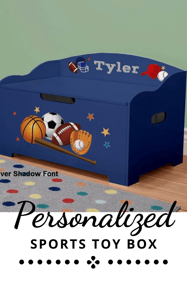 Personalized Toy Box for a Sports Fan
