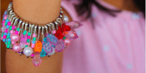 Safety Pin Beaded Bracelet