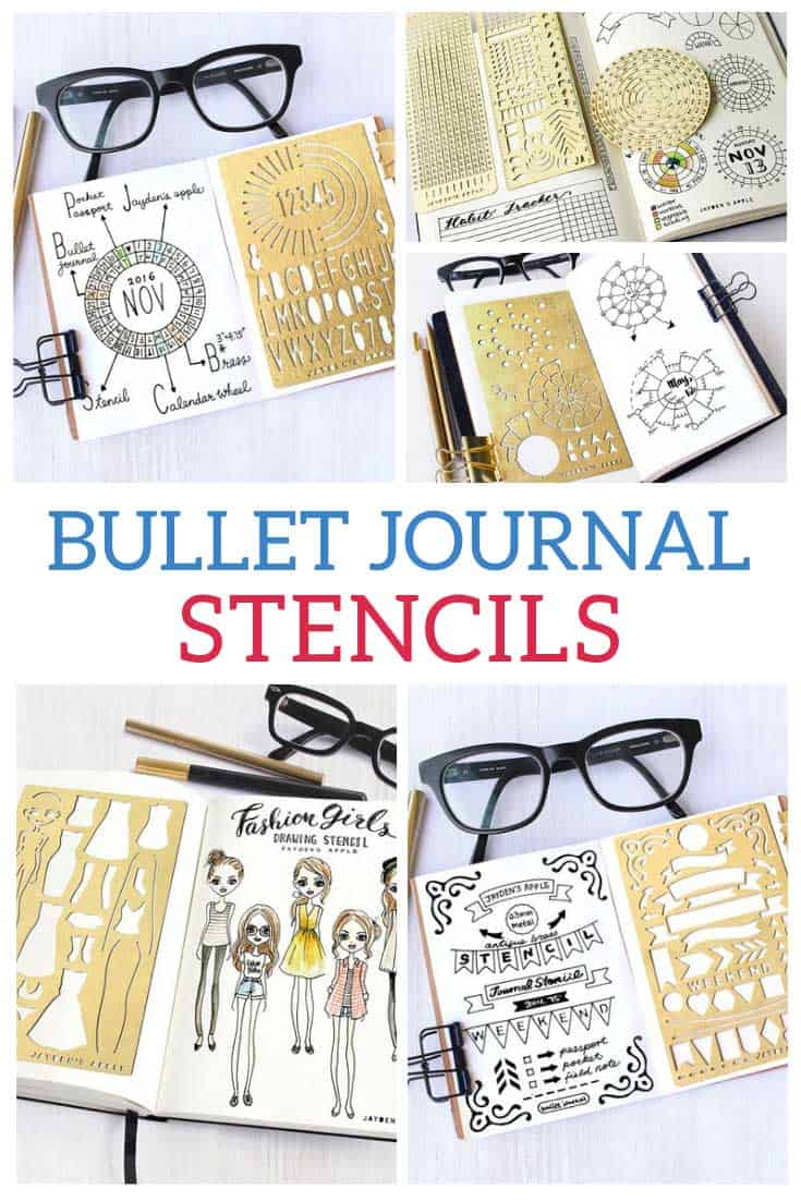 These are the best bullet journal stencils I've found - just what we need for neat layouts!