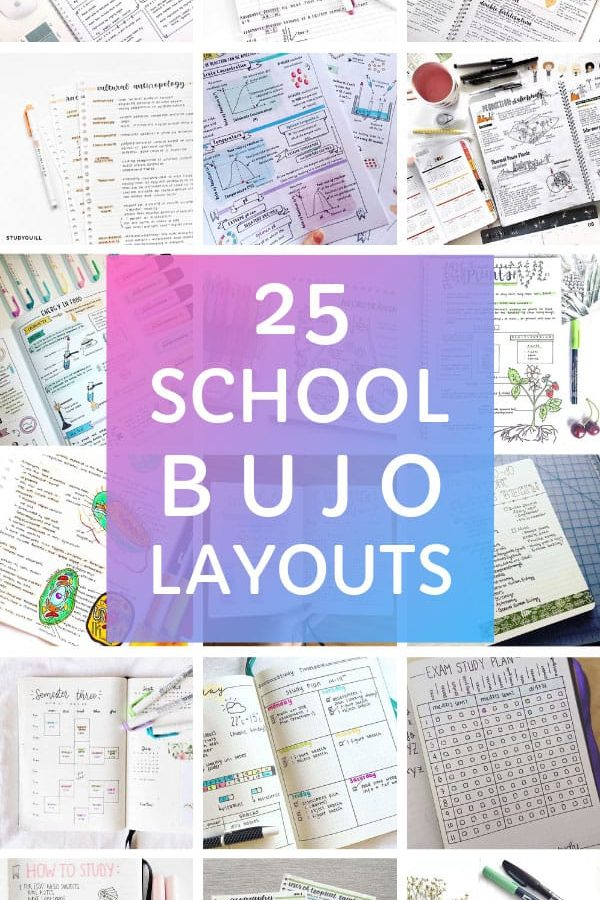 These school bullet journal layouts are GENIUS! Just what you need to stay organized at college this semester! #studygram #studyblr #bulletjournal