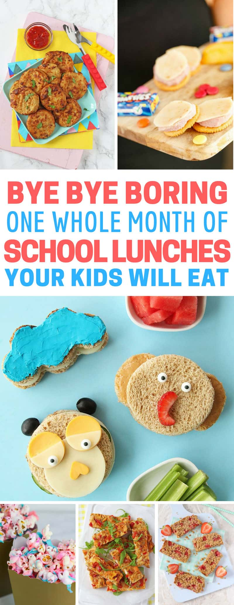 one whole month of easy school lunch ideas for kids