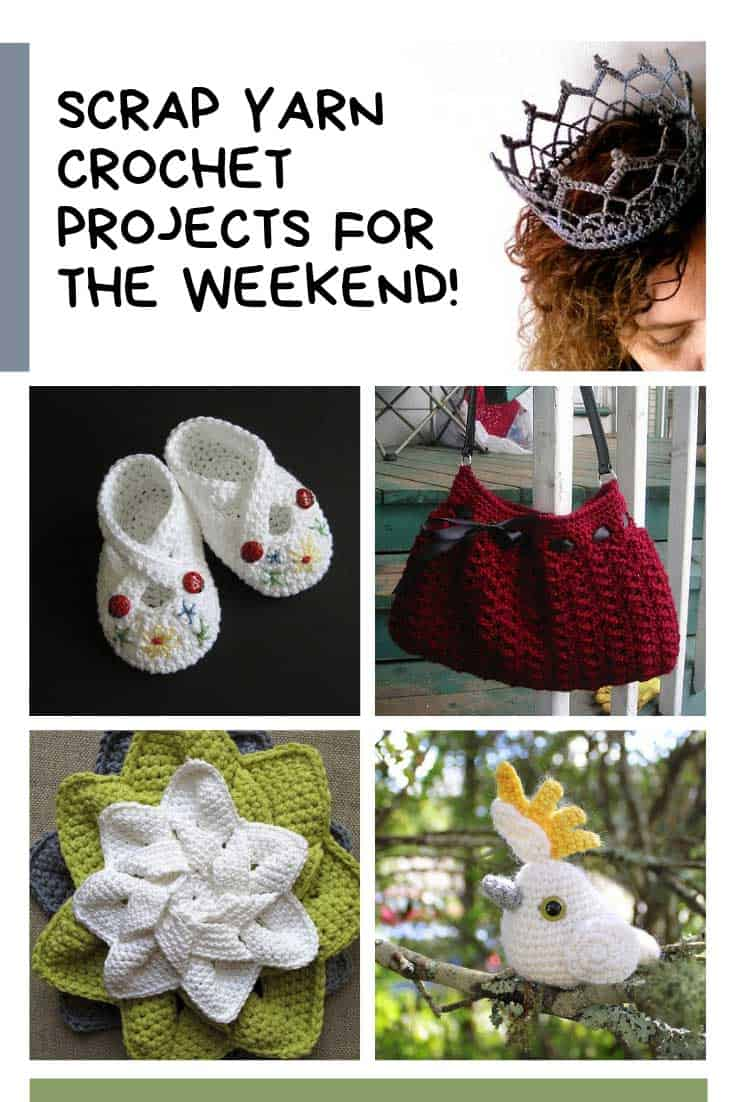 Loving these scrap yarn crochet projects for the weekend!