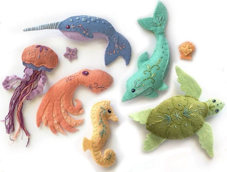 Sea Creature Felt Animals