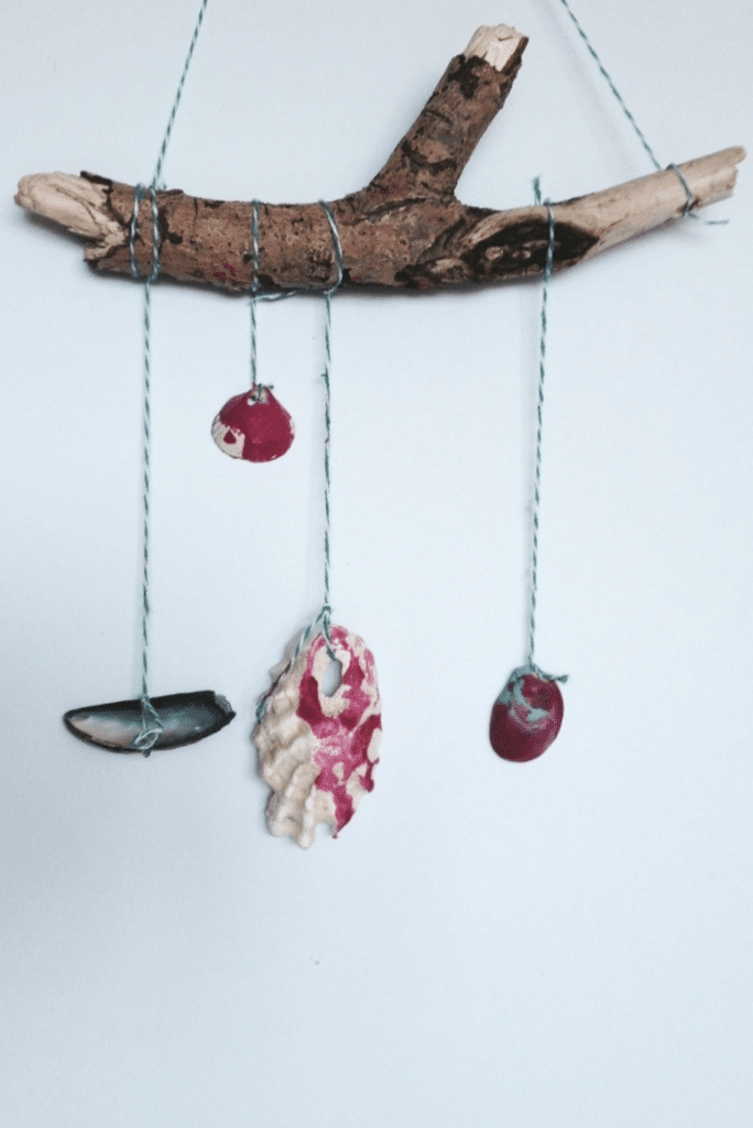 Seashell wall hanging