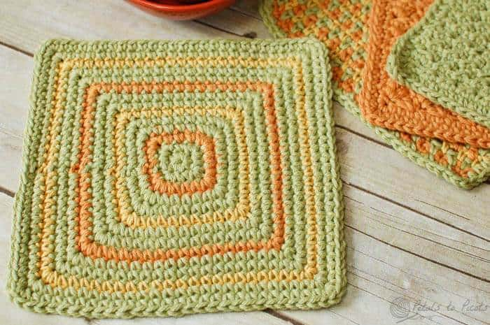 Seeing Squares Crochet Dishcloth Pattern