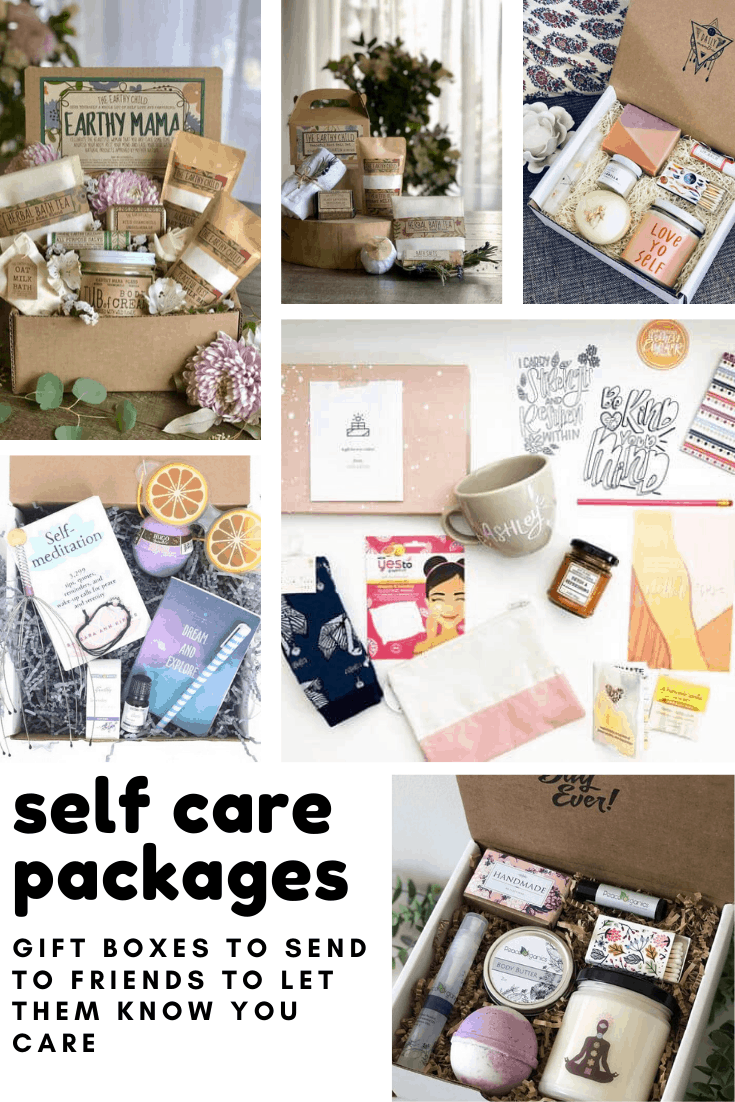 These self care packages are gorgeous and the perfect gift to send to a friend who needs some me time!