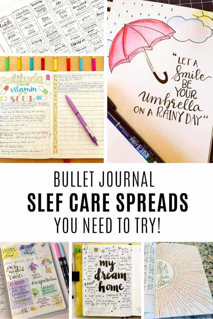 So many great bullet journal self care ideas to try in 2019