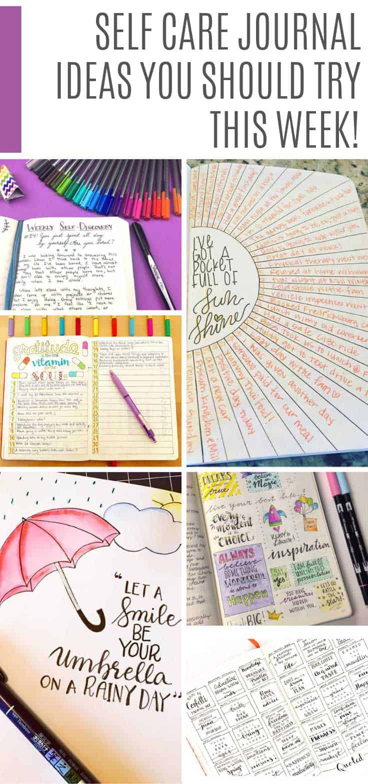 These self care journal ideas will help you to be more mindful and take care of your mental health #bulletjournal #selfcare