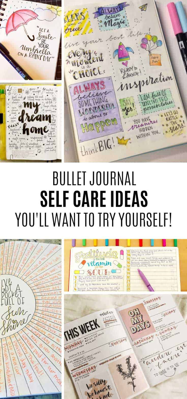 Loving these self care journal ideas for my bullet journal!