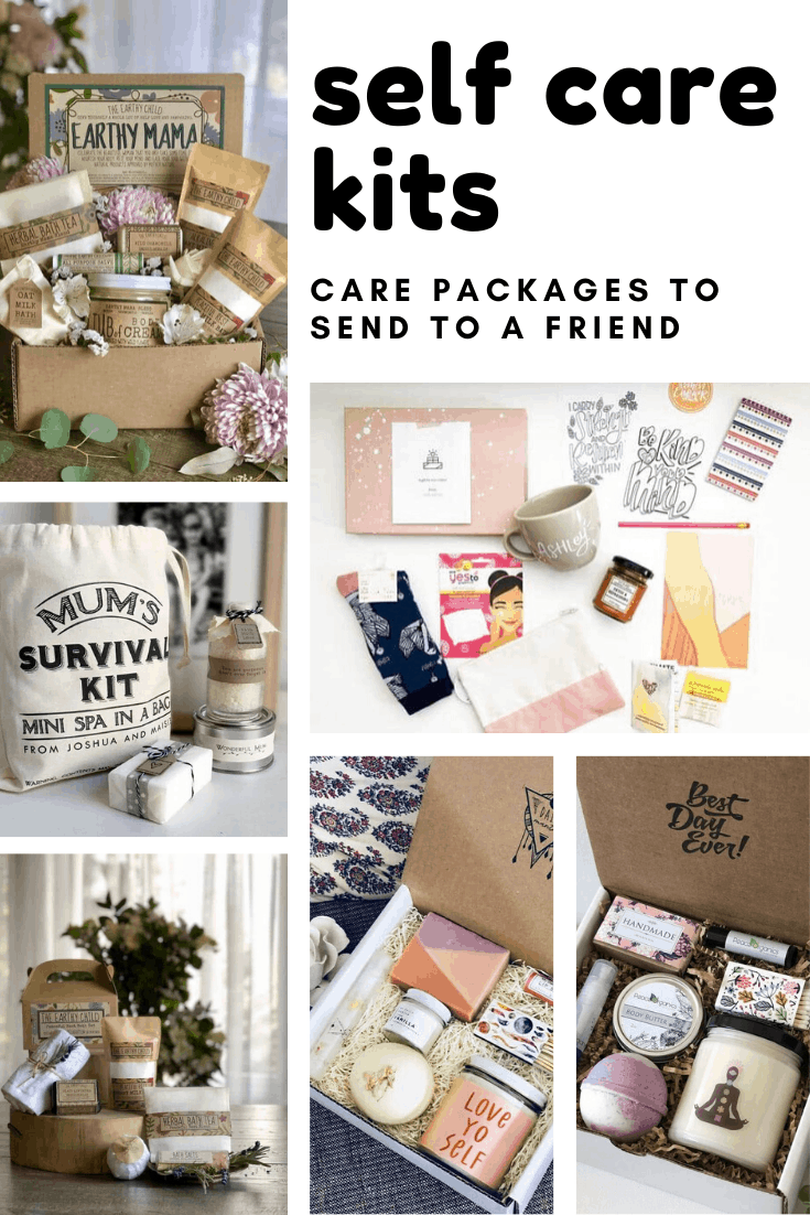 Loving these self care packages! So many cute gift boxes to send to friends who need to take care of their mental health