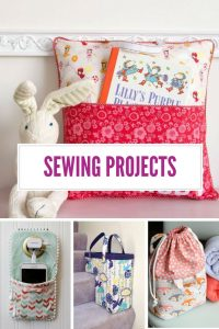 I know you LOVE to sew and these sewing projects are SUPER useful - I mean how CUTE is that book cushion!