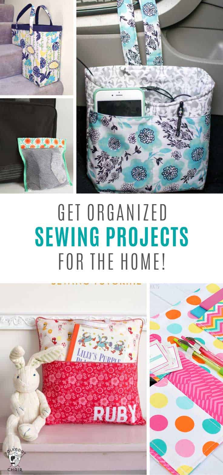 So many cute sewing projects for the home to help you get organized!