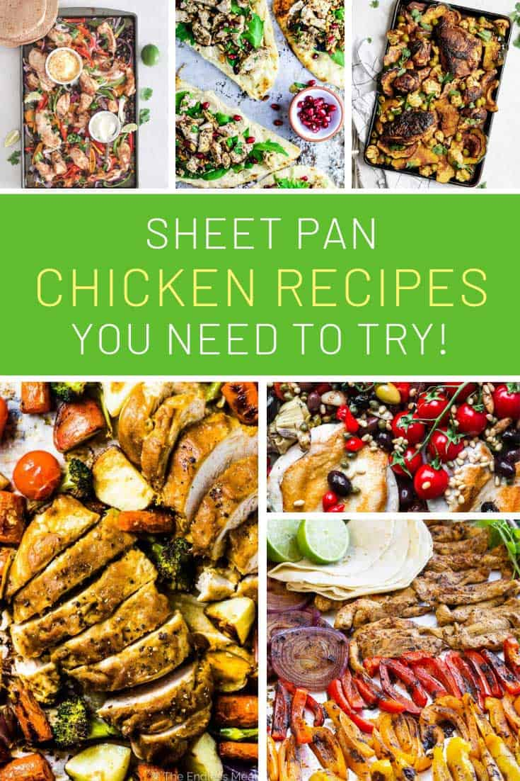 You need to try these sheet pan chicken recipes! Healthy and delicious!