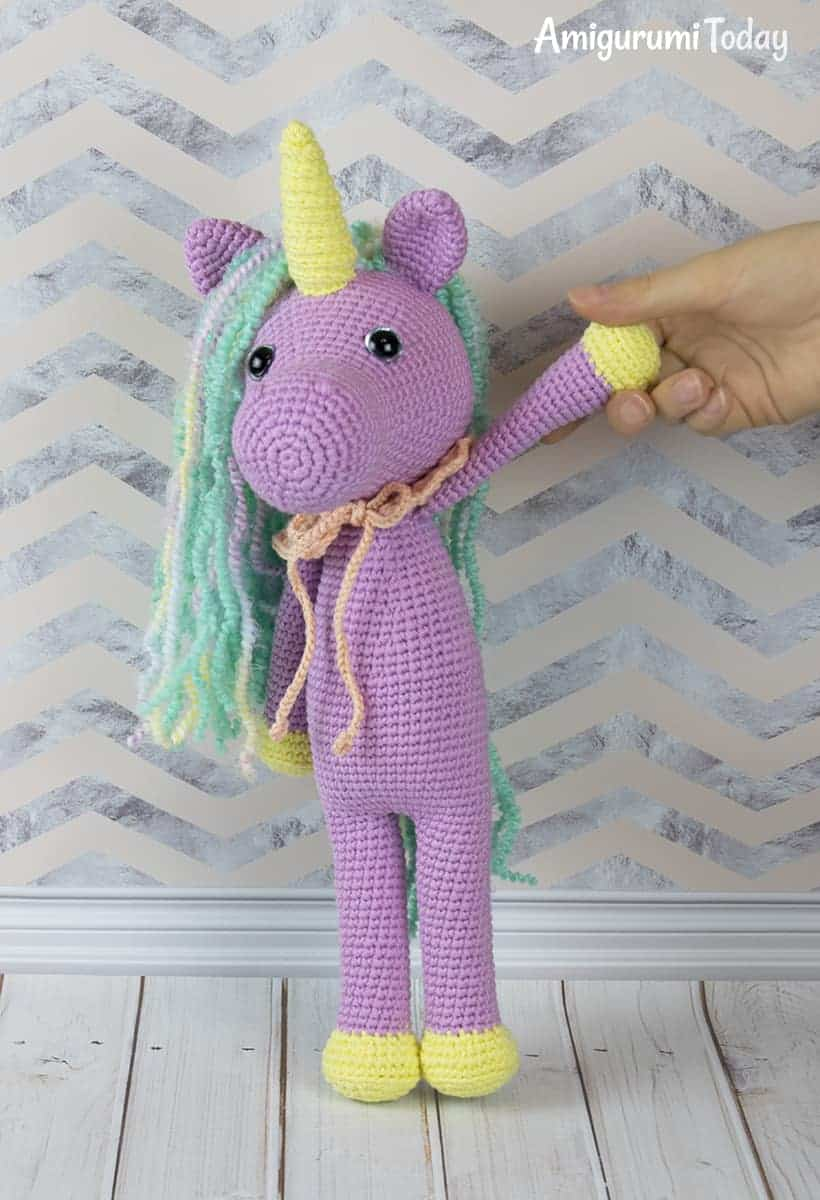 Shy Unicorn Amigurumi Pattern from Amigurumi Today