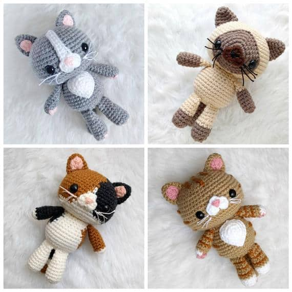Crochet Quick Easy Beginner Cute Amigurumi Kitty Cat DIY Tutorial ... | 570x570
