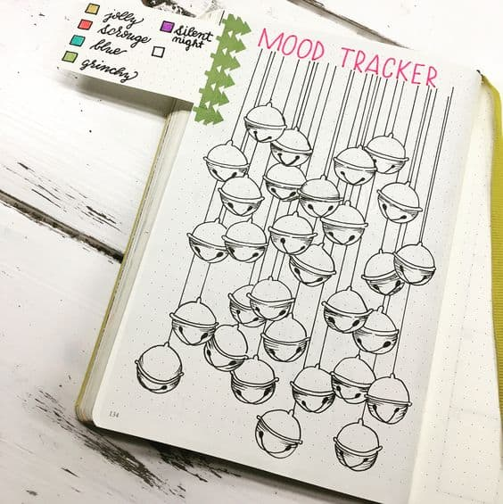 Silver Bells Christmas Mood Tracker