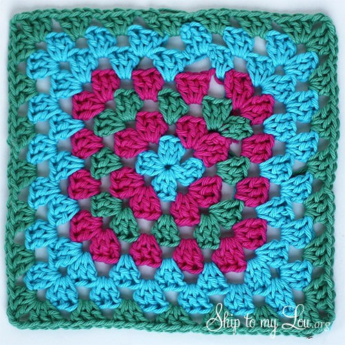 Simple Granny Square Dishcloth