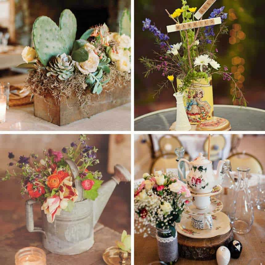 Simple Rustic Centerpieces for Your Wedding