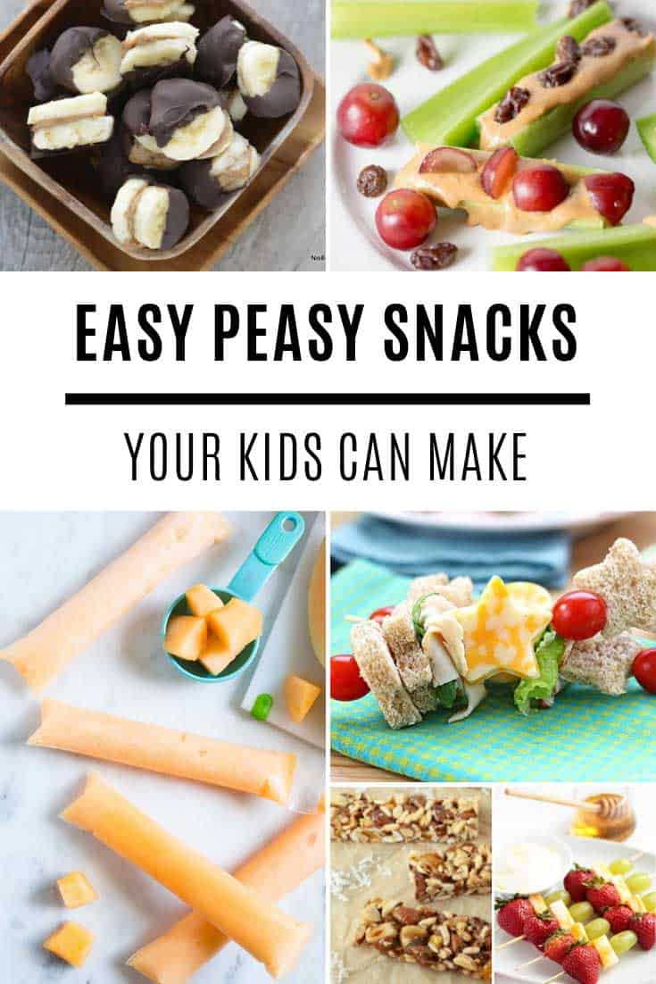 These simple snacks are healthy and delicious and so easy your kids can make them #kids #food