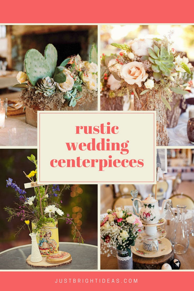 Simple Wedding Rustic Centerpieces